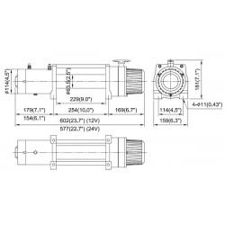 Treuil Come-up DV9 (4082kg) 12volts