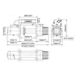 Treuil Come-up DV9i (4082kg) 12volts
