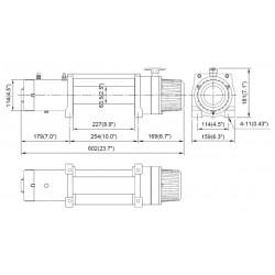 Treuil Come-up DV9S 4 tonnes 12 volts