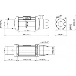 Treuil Come-up DS9.5RS 4,3 tonnes 12 volts