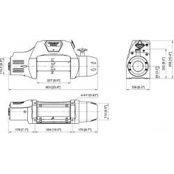 Treuil Come-up DS9.5RSI 4,3 tonnes 12 volts