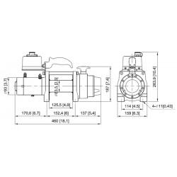 Treuil Come-up DV-6S 2,7 tonnes 12 volts